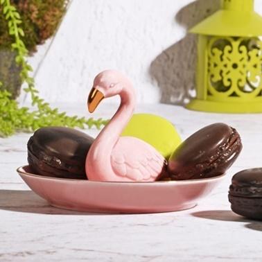Kosova Porselen Flamingo İkramlık Renkli